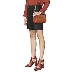Dorothy Perkins - Black coated denim skirt