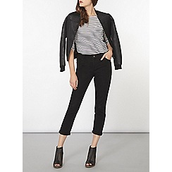 Dorothy Perkins - Wash black straight leg jeans