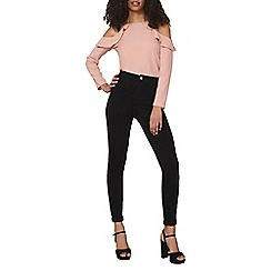 Dorothy Perkins - Black fly front lyla - high skinny trousers