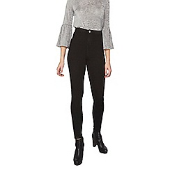 Dorothy Perkins - Tall black fly front lyla jeans