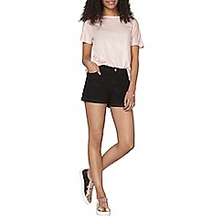 Dorothy Perkins - Black denim shorts