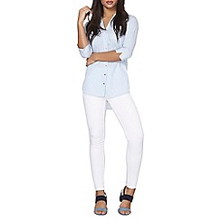 Dorothy Perkins - White eden ankle grazer jeggings