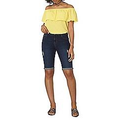 Dorothy Perkins - Indigo abrasion knee shorts