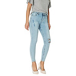Dorothy Perkins - Grey stone wash abrasion 'Darcy' - ankle grazer jeans