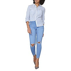 Dorothy Perkins - Ice blue rip Darcy ankle grazers