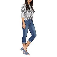 Dorothy Perkins - Indigo 'Jessie' cropped jeans