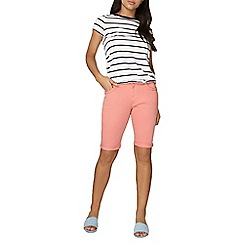 Dorothy Perkins - Coral plait denim knee short