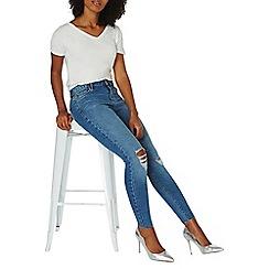 Dorothy Perkins - Light blue ripped knee skinny jeans