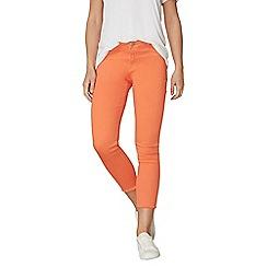 Dorothy Perkins - Orange raw hem skinny fit jeans