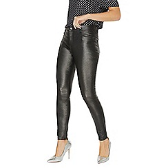 Dorothy Perkins - Pewter glitter coated Frankie skinny fit jeans