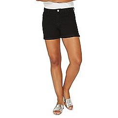Dorothy Perkins - Black entry denim shorts