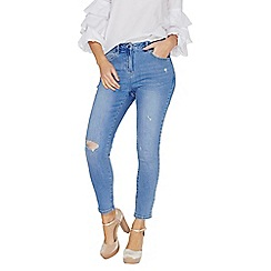 Dorothy Perkins - Blue ripped skinny ankle grazer jeans