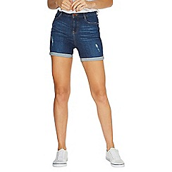 Dorothy Perkins - Blue mid wash shaping shorts