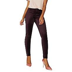 Dorothy Perkins - Blackcurrant velvet 'frankie' super skinny jeans