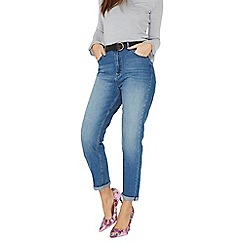 Dorothy Perkins - Blue mid wash mom jeans