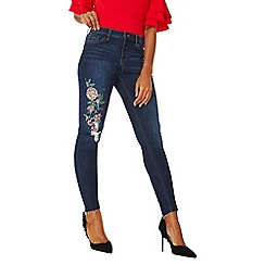 Dorothy Perkins - Indigo oriental embroidered jeans