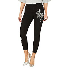 Dorothy Perkins - Black 'darcy' metallic embroidered jeans