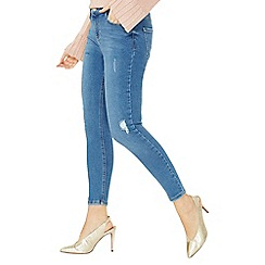 Dorothy Perkins - Mid wash premium 'darcy' abrasion ankle grazer jeans