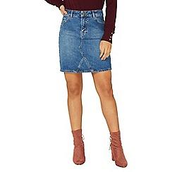 Dorothy Perkins - Mid wash denim mini skirt