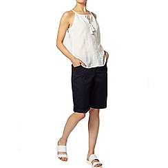 Dorothy Perkins - Navy sateen knee shorts