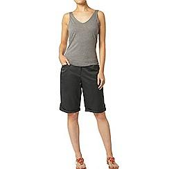 Dorothy Perkins - Khaki sateen knee shorts