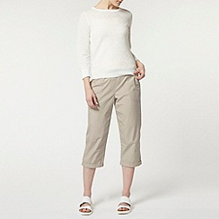 Dorothy Perkins - Stone jersey waistband crop trousers