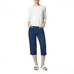 Dorothy Perkins - Petrol fly front poplin crop trousers