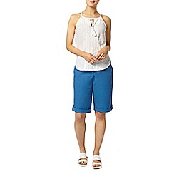 Dorothy Perkins - Blue poplin knee short