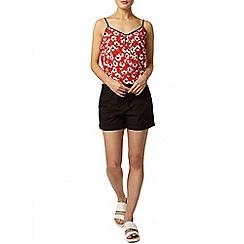 Dorothy Perkins - Black poplin shorts