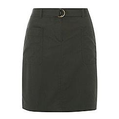 Dorothy Perkins - Tall khaki d ring skirt