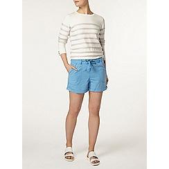 Dorothy Perkins - Blue linen tie waist shorts
