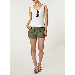 Dorothy Perkins - Khaki pocket trim short