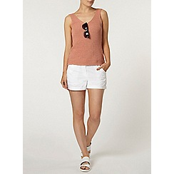 Dorothy Perkins - White crochet side trim shorts