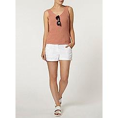 Dorothy Perkins - White crochet side trim shorts