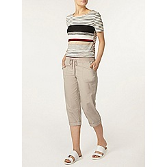 Dorothy Perkins - Stone jersey crop trousers