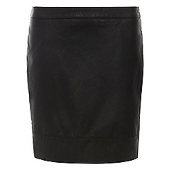 Dorothy Perkins - Tall black pu mini skirt