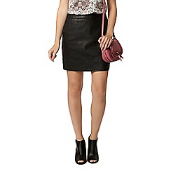Dorothy Perkins - Black pu mini skirt with pockets
