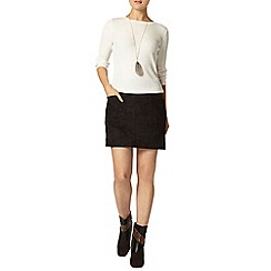 Dorothy Perkins - Black suede pocket mini skirt