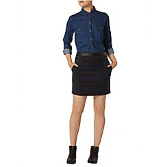 Dorothy Perkins - Check mini skirt with pu waistband