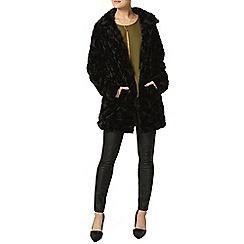 Dorothy Perkins - Black zip pu skinny trousers