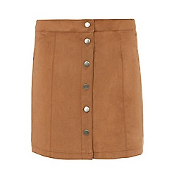Dorothy Perkins - Tall tan suedette mini skirt