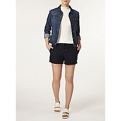 Dorothy Perkins - Navy cotton poplin shorts