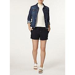 Dorothy Perkins - Navy cotton poplin shorts