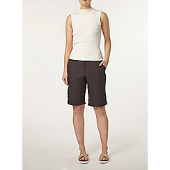 Dorothy Perkins - Charcoal cotton knee short