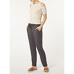 Dorothy Perkins - Charcoal twill trousers