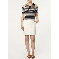 Dorothy Perkins - Ivory cotton poplin skirt