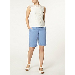 Dorothy Perkins - Blue sateen knee short