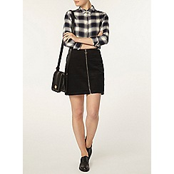 Dorothy Perkins - Black cord zip mini skirt