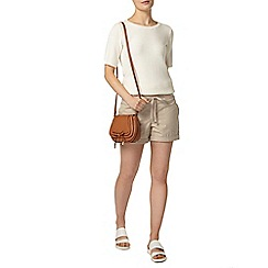 Dorothy Perkins - Stone cotton poplin short