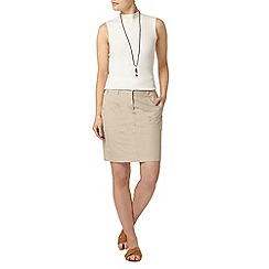 Dorothy Perkins - Stone cotton poplin skirt